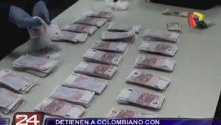 Detienen a colombiano con más 700 mil euros en Aeropuerto Jorge Chávez