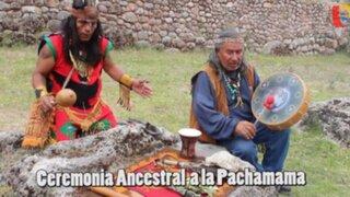 Líder indigena Inka pidió ser respetuosos con la tierra en tradicional ritual