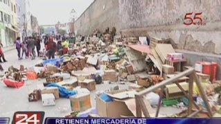Centro de Lima: Realizan operativo contra ambulantes en jirón Inambari