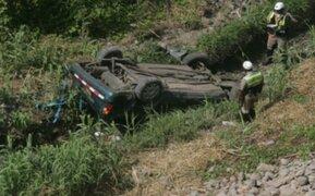 Junín: alcalde electo de Satipo falleció tras despiste y volcadura de su camioneta