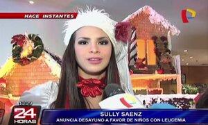 Sully Sáenz llevó alegría a los niños enfermos de leucemia