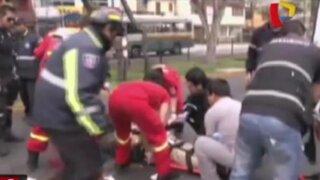 Mujer quedó  atrapada en camión tras choque en Vía Evitamiento