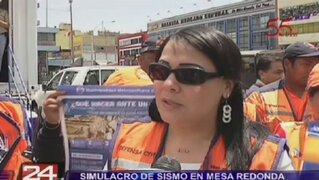 Simulacro de sismo en Mesa Redonda se tomó con poca seriedad