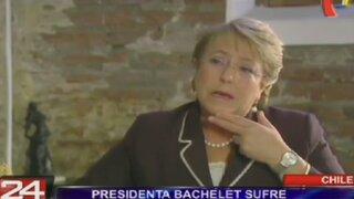 Chile: Presidenta Michelle Bachelet sufre su más baja aprobación histórica