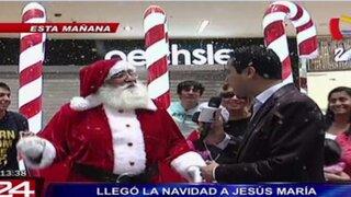 La Navidad llegó a Jesús María con espectacular ambientación del Polo Norte
