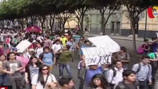 Alumnos de la UNI protestan por liberación del militar que mató a su compañero