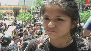 Estudiantes de la UNI exigen detención de militar que mató a joven