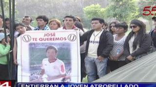 Huachipa: entierran a joven universitario atropellado por militar ebrio