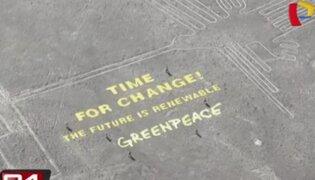 Piden detención de activistas de Greenpeace por protesta en Líneas de Nazca