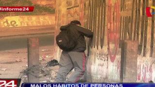 Informe 24: malos hábitos de los ciudadanos convierten a Lima en una letrina