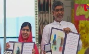 Malala Yusafzai e indio Satyarthi recibieron el premio Nobel de la Paz