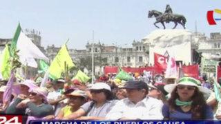 Marcha de los Pueblos causó caos vehicular en Centro de Lima
