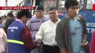 Usuarios del Corredor Azul expresaron su malestar por alza de pasaje