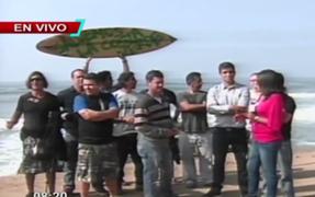 Continúa malestar de tablistas por las obras en la Costa Verde