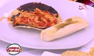 Sepa cómo preparar tostadas y tacos de tinga poblana de pollo
