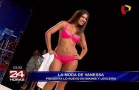 La modelo Vanessa Tello estuvo en Panamericana TV en un espectacular desfile