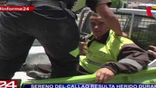 Informe 24: sereno del Callao con muerte cerebral tras ser agredido por informales