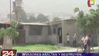 Invasores armados asaltaron y destruyeron una vivienda en Ate