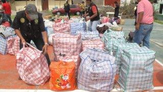 Tumbes: autoridades decomisan ropa de contrabando valorizada en S/.70,000