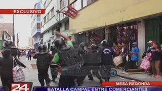 Mesa Redonda: Batalla campal entre comerciantes informales y serenos de Lima