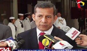 Presidente Humala reitera respaldo a ministro Daniel Figallo