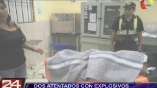 Dos atentados con explosivos simultáneos dejaron un herido en Casma