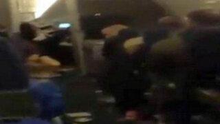 Impactantes imágenes: 14 pasajeros heridos por una fuerte turbulencia en un vuelo