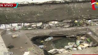 Chorrillos: aniego de proporciones se debió a acumulación de basura en canal de regadío