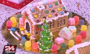 Aprende cómo hacer una decorativa casita de Navidad con galletas