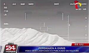 Revelan imágenes de persecución de aviones estadounidenses a Ovnis