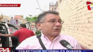 Informe 24: colectivos informales invaden calles de Lima y el Callao