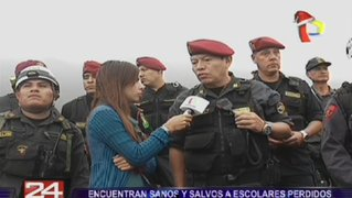 Policía logró ubicar a los 11 escolares que se perdieron en Lomas de Zapallal