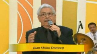 Falleció en México el destacado cantante y compositor criollo Juan Mosto