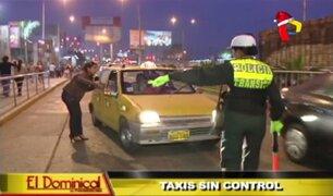 Taxis sin control: conductores infringen normas de tránsito y generan caos