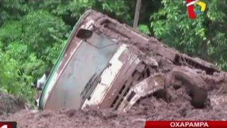 Pasco: huaico sepulta camión que transportaba 10 caballos