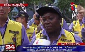 Inspectores exigen a Municipalidad de Lima que cumpla con pagos atrasados