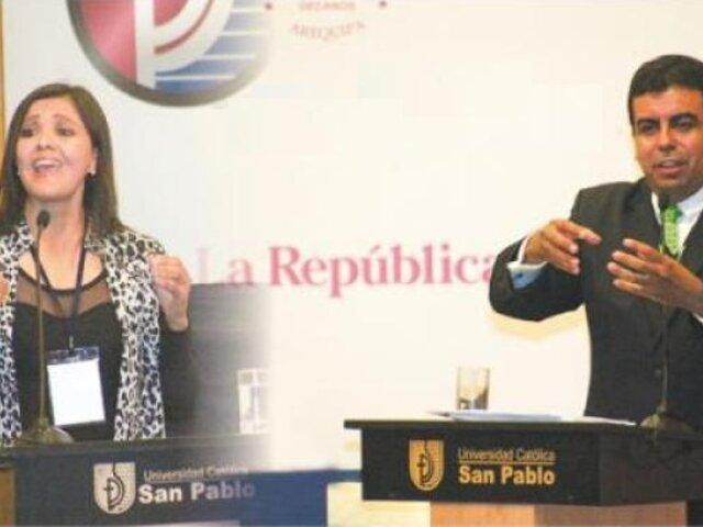 Región Arequipa: Javier Ísmodes y Yamila Osorio registran empate técnico