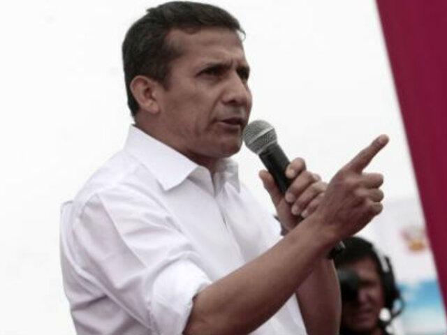 """Ollanta Humala sobre 'Ley Pulpín': """"Exhorto al Congreso a trabajar en una alternativa"""""""