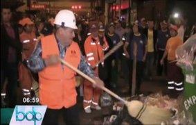 Nuevo alcalde de La Victoria ordenó el recojo de 50 toneladas de basura