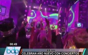 EE.UU.: miles de personas recibieron el nuevo año en conciertos