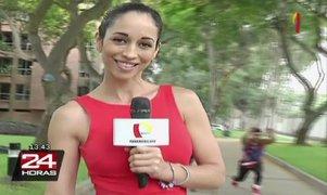 Olinda Castañeda enseña qué ejercicios realizar para estar en forma