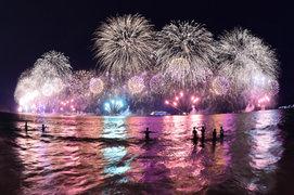Brasil recibió el año 2015 con espectacular show de fuegos artificiales