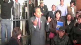 Junín: autoridades regionales tuvieron que despachar en la calle