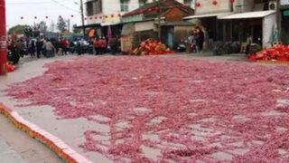YouTube: tienes que ver cómo detonan un millón de pirotécnicos en esta calle de China