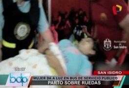 Mujer da a luz en bus de servicio público en San Isidro