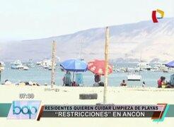 Ancón: residentes planean 'restringir' el ingreso a playa para cuidar limpieza