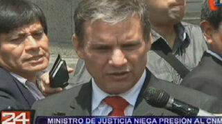 Ministro Figallo niega presión al CNM por suspensión de Ramos Heredia
