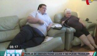 Reino Unido: pareja de obesos tienen lujos y no pueden trabajar