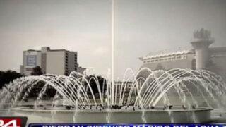 Circuito Mágico del Agua cerró tras ser declarado en estado de abandono