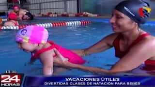 Disfrute unas vacaciones de manera divertida con las clases de natación